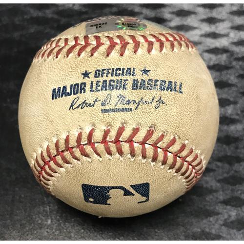 Photo of Game-Used Baseball - Kris Bryant Foul vs. Josh Collmenter