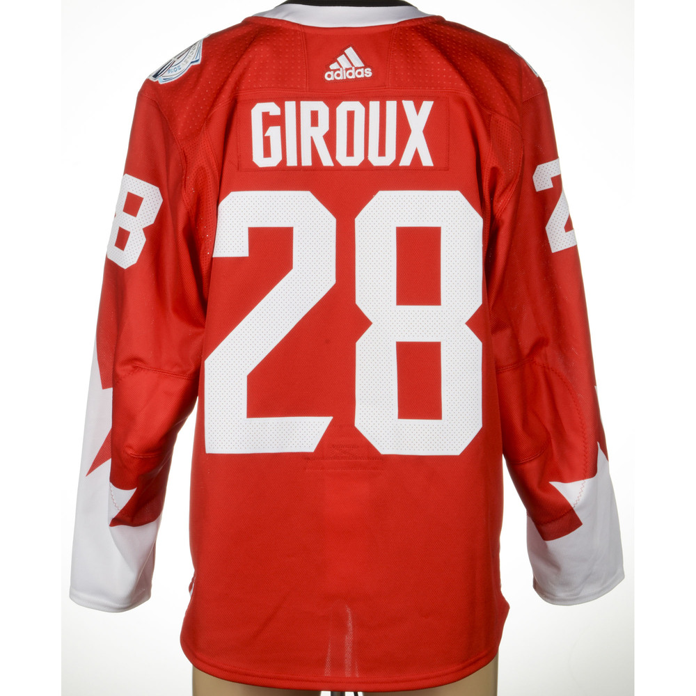 Claude Giroux Philadelphia Flyers Player-Issued 2016 World Cup of Hockey Team Canada Jersey