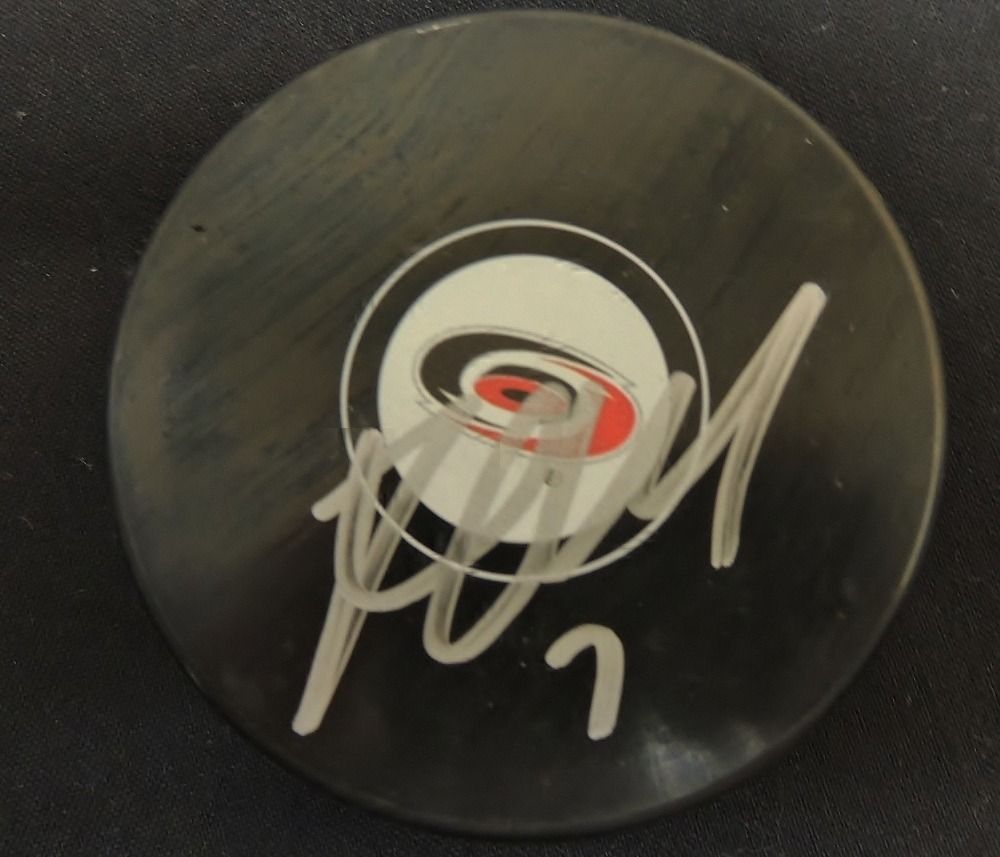 Ryan Murphy #7 Autographed Puck