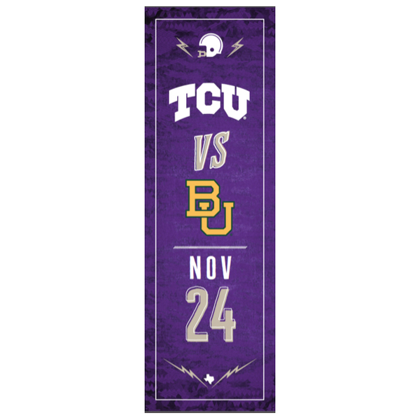 TCU vs. Baylor Football Street Banner (A)