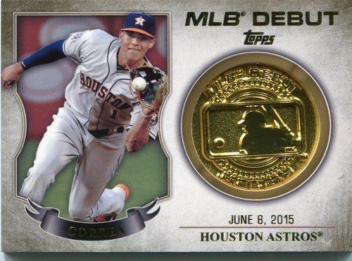 Photo of 2016 Topps MLB Debut Medallion #MLBDM221 Carlos Correa  -- Astros post-season