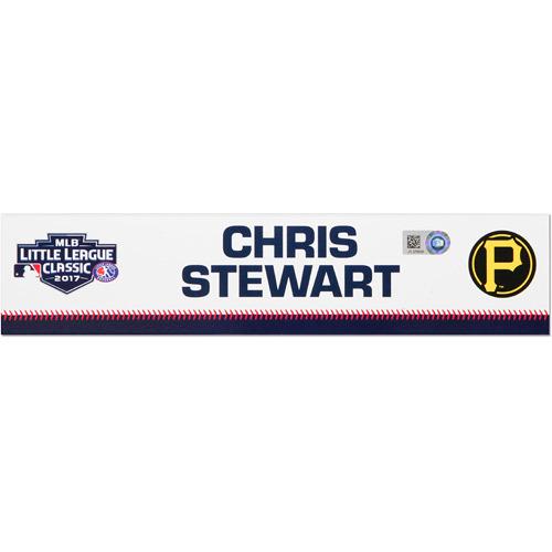 Photo of Pittsburgh Pirates Game-Used Locker Name Plate, Chris Stewart #19