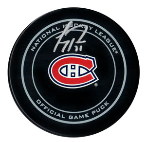 Carey Price - Signed Montreal Canadiens Game Model Puck