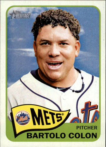 Photo of 2014 Topps Heritage #221 Bartolo Colon