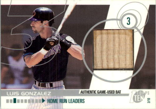 Photo of 2002 Topps Ten Relics #TTRLG Luis Gonzalez Bat C