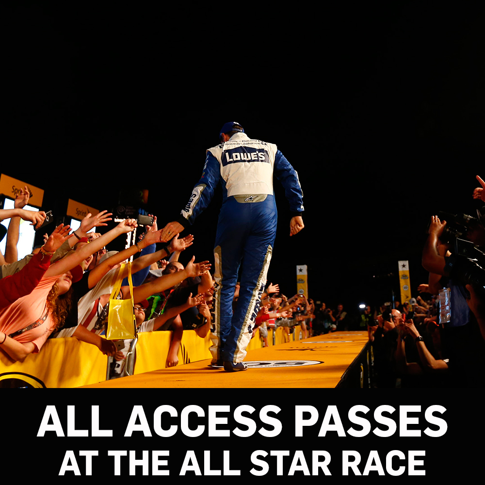 All Access NASCAR Garage Passes for the All-Star Race!