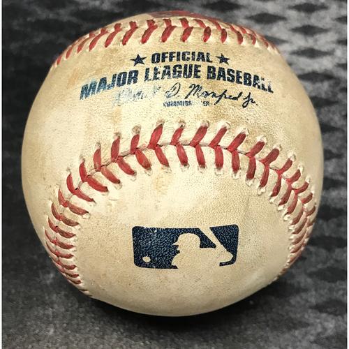 Photo of Game-Used Baseball - Jake Lamb Foul vs. Kenta Maeda