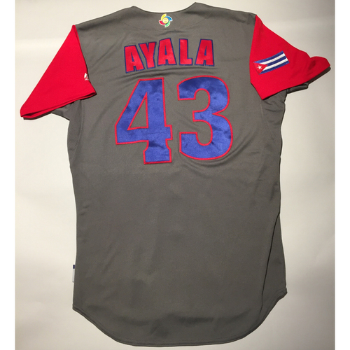 Photo of 2017 WBC: Cuba Game-Used Road Jersey, Ayala #43