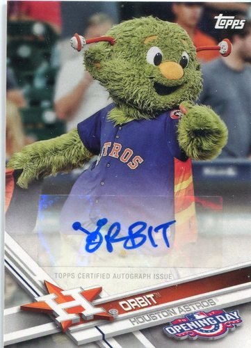 Photo of 2017 Topps Opening Day Mascot Autographs Orbit