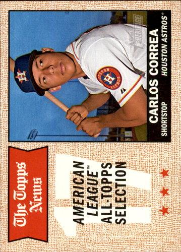 Photo of 2017 Topps Heritage #366 Carlos Correa  -- Astros post-season