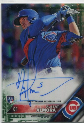 Photo of 2016 Topps Chrome Autographs Green Refractor 87/99 Albert Almora -- Cubs post-season