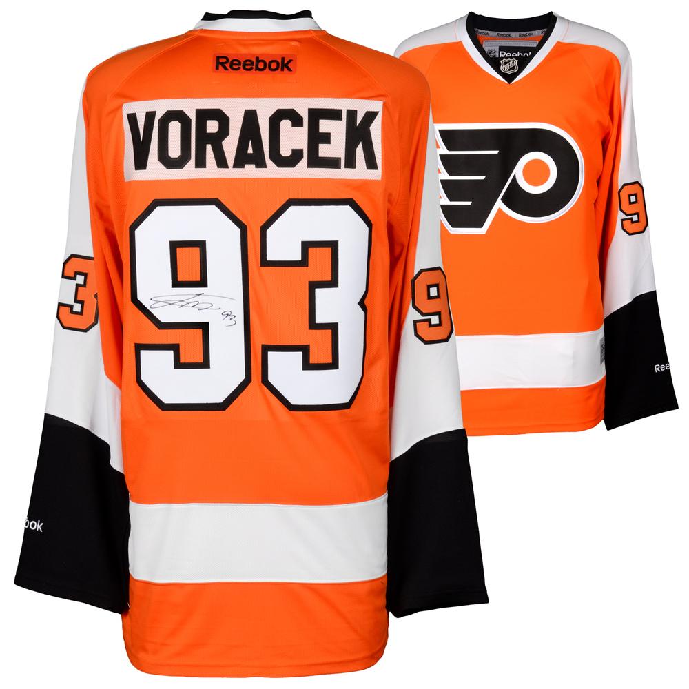 Jakub Voracek Philadelphia Flyers Autographed Orange Reebok Premier Jersey