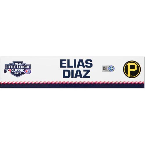 Photo of Pittsburgh Pirates Game-Used Locker Name Plate, Elias Diaz #32