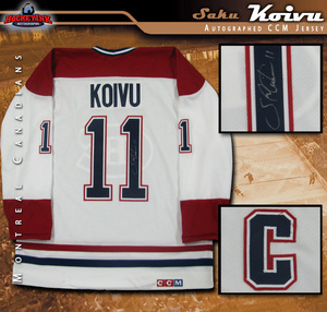 SAKU KOIVU Signed Montreal Canadiens White CCM Jersey