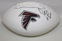 FALCONS - ANTONE SMITH SIGNED PANEL BALL W/ FALCONS LOGO