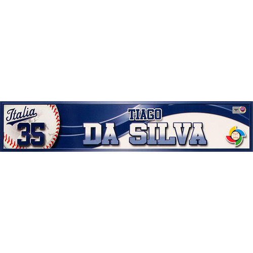 Photo of 2013 World Baseball Classic: Tiago Da Silva (ITA) Game-Used Locker Name Plate