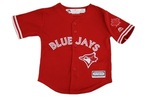 Toronto Blue Jays Toddler Cool Base Replica Alternate Red Jersey by Majestic