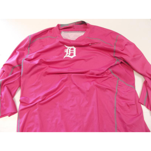 Photo of Game-Used Pink Dry Fit Shirt