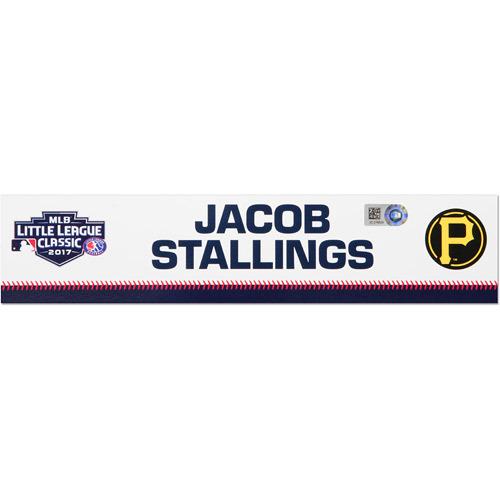 Photo of Pittsburgh Pirates Game-Used Locker Name Plate, Jacob Stallings #58