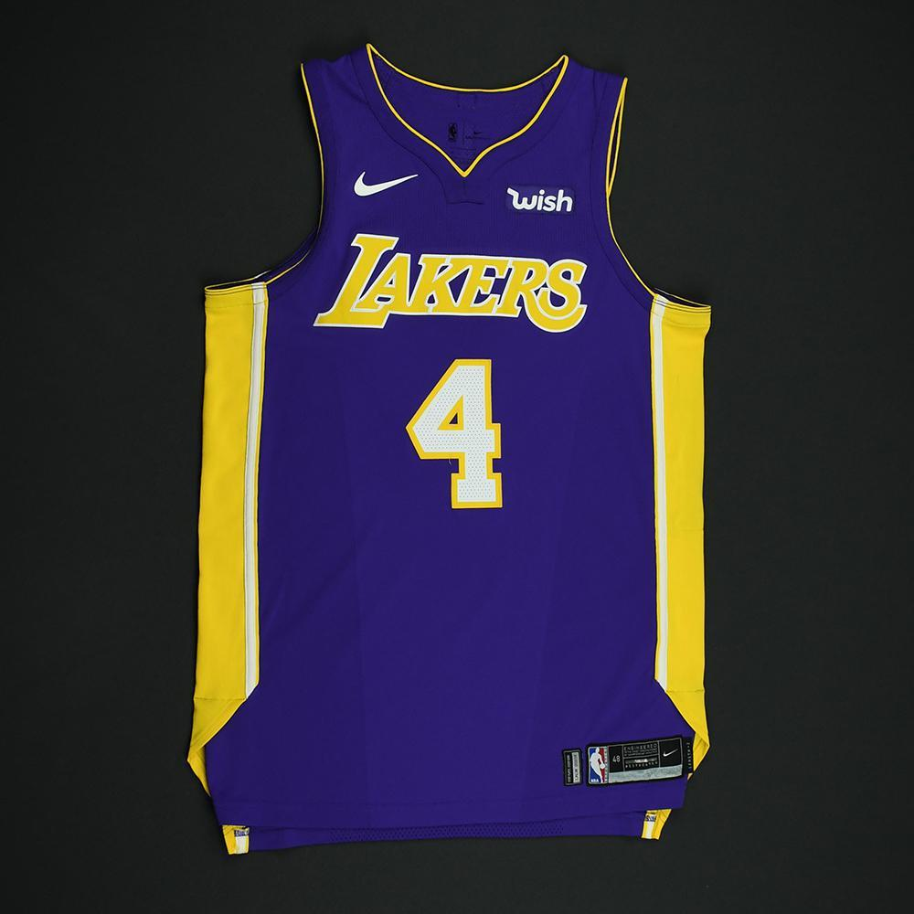 Alex Caruso - Los Angeles Lakers - Game-Issued Jersey - 2017-18 Season
