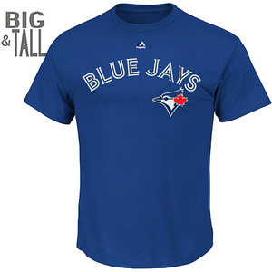 Toronto Blue Jays Big & Tall Wordmark T-Shirt by Majestic