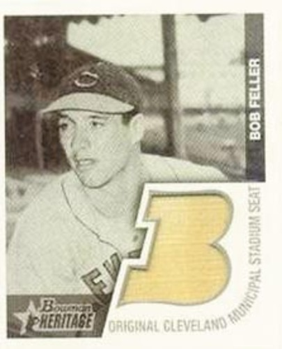 Photo of 2001 Bowman Heritage 1948 Reprints Relics #BHMBF Bob Feller Seat A