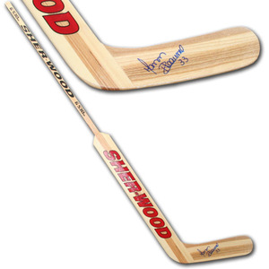 Manon Rheaume Autographed Sher-Wood Goalie Stick (Tampa Bay Lightning)