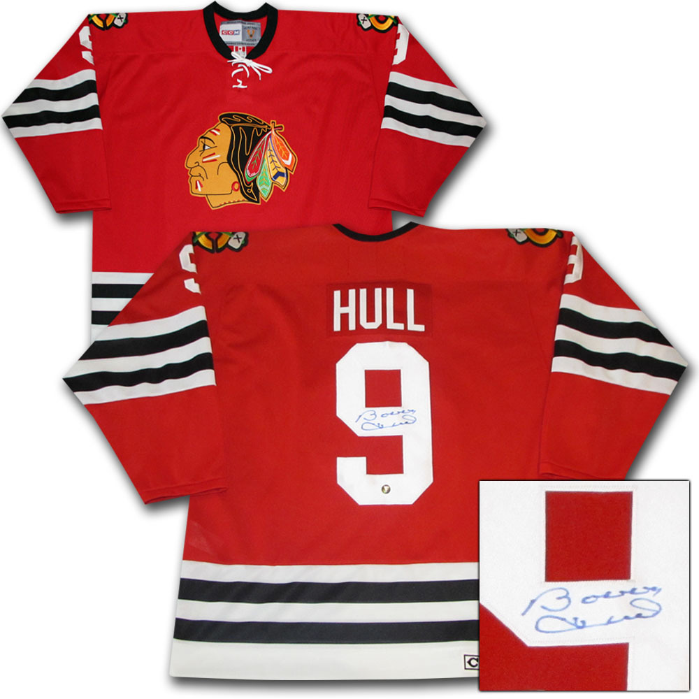 Bobby Hull Autographed Chicago Blackhawks CCM Vintage Jersey