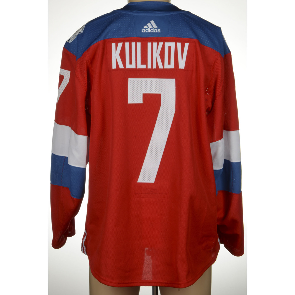 Dmitri Kulikov Buffalo Sabres Game-Worn 2016 World Cup of Hockey Team Russia Jersey, Worn Against Team Finalnd On September 22nd