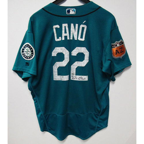 Photo of Robinson Cano 2017 Green Spring Training Autographed Team-Issued Jersey - Size 48