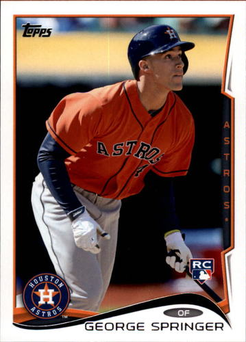 Photo of 2014 Topps Update #US10A George Springer  Rookie Card