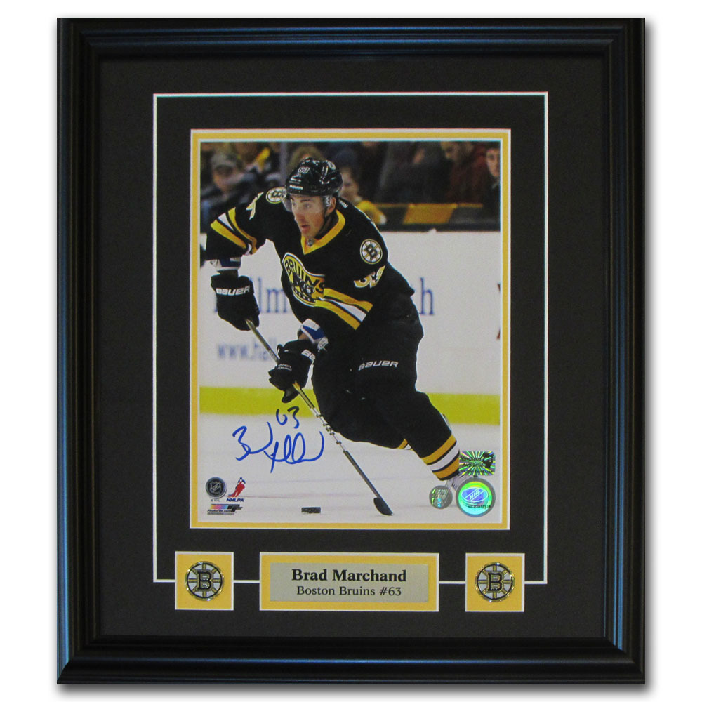 Brad Marchand Autographed Boston Bruins Framed 8X10 Photo
