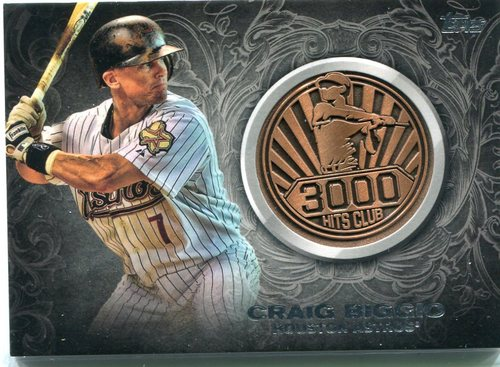 Photo of 2016 Topps Update 3000 Hits Club Medallions Craig Biggio
