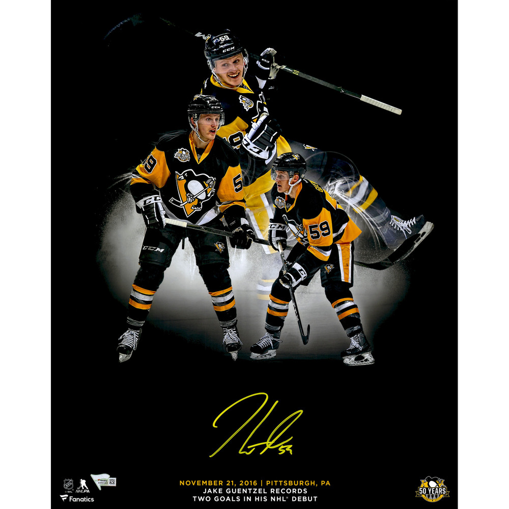 Jake Guentzel Pittsburgh Penguins Autographed 16