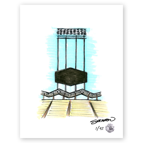 Photo of Dodger Stadium Sketch - Limited Edition Print 1/42 by S. Preston