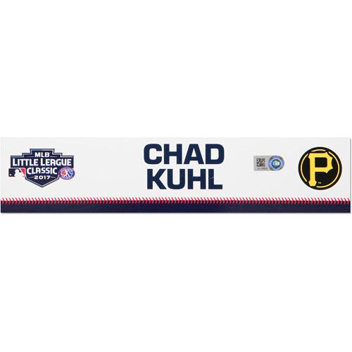 Photo of Pittsburgh Pirates Game-Used Locker Name Plate, Chad Kuhl #39