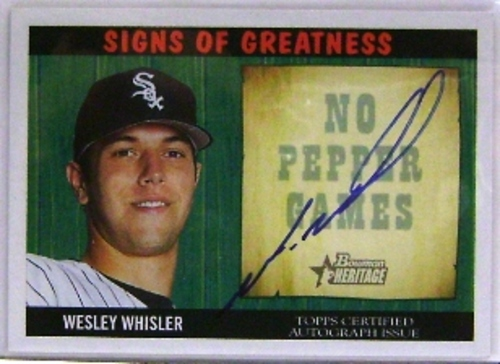 Photo of 2005 Bowman Heritage Signs of Greatness #WW Wesley Whisler B