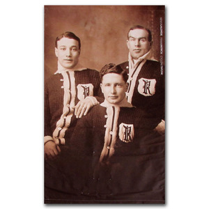 Newsy Lalonde, Frank Patrick and Cyclone Taylor Renfrew Creamery Kings Banner Once on Display at the Hockey Hall of Fame