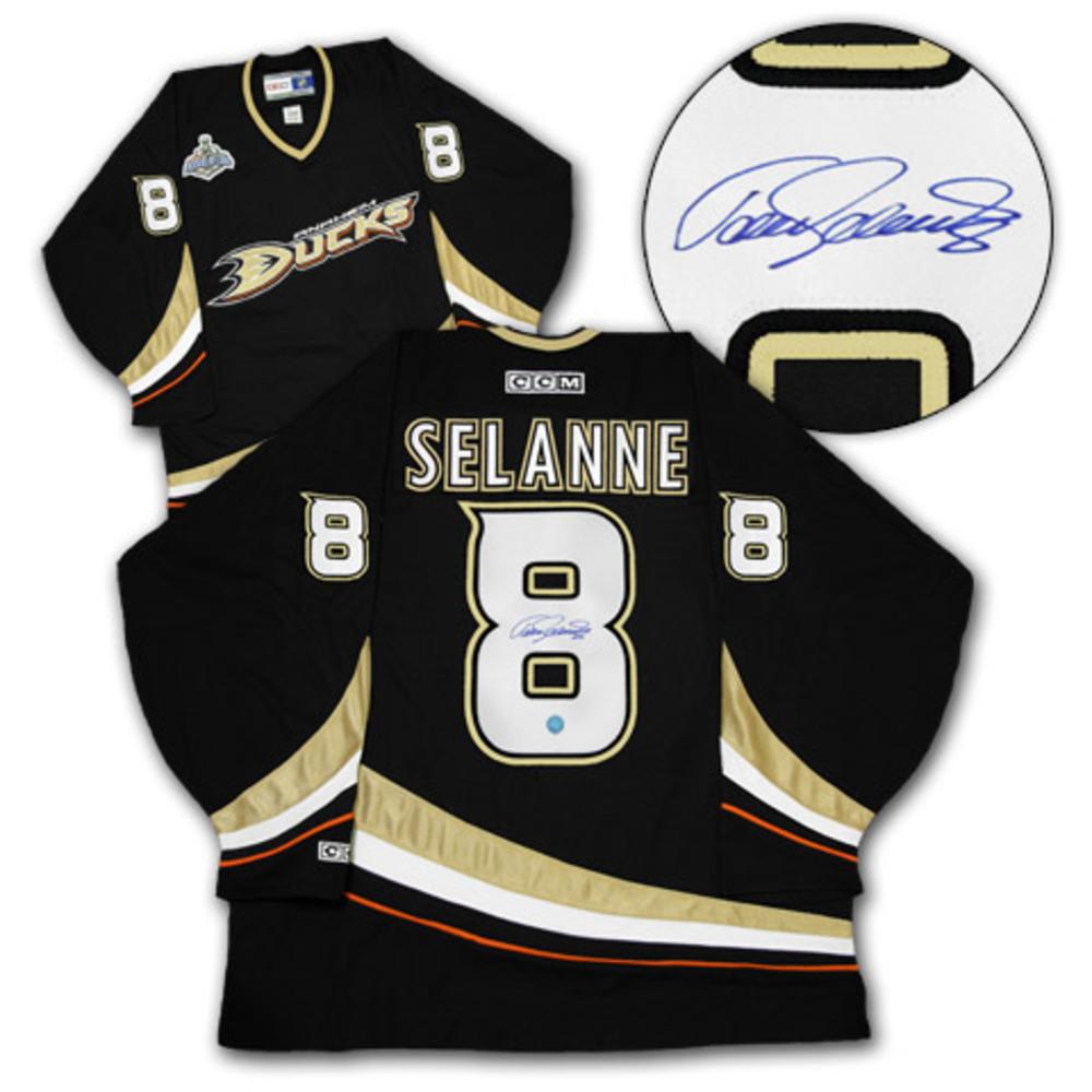 TEEMU SELANNE Anaheim Ducks SIGNED 2007 Stanley Cup Hockey Jersey