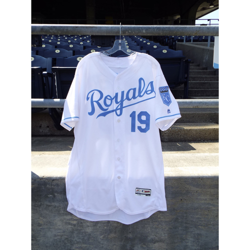 Photo of Game-Used Cheslor Cuthbert Father's Day Jersey (Size 48) 6/19/16