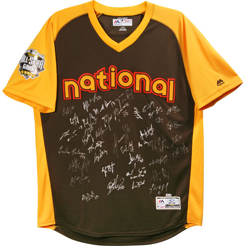Photo of 2016 National League All-Star Jersey - Autographed by Team Roster