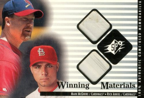 Photo of 2000 SPx Winning Materials Update #MMRA M.McGwire/R.Ankiel