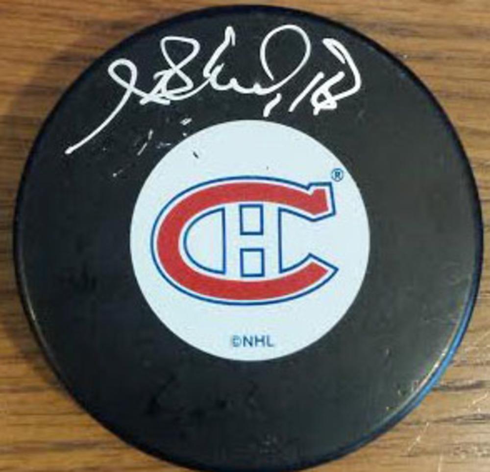 Henri Richard Autographed Montreal Canadiens Puck - A Beauituful Piece