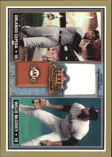 Photo of 2002 Fleer Fall Classics Rival Factions Game Used #10 Orl Cepeda Bat-McCovey