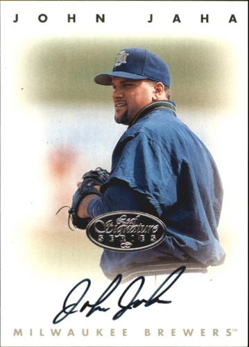 Photo of 1996 Leaf Signature Autographs Silver #116 John Jaha