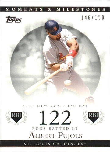 Photo of 2007 Topps Moments and Milestones #2-122 Albert Pujols/RBI 122