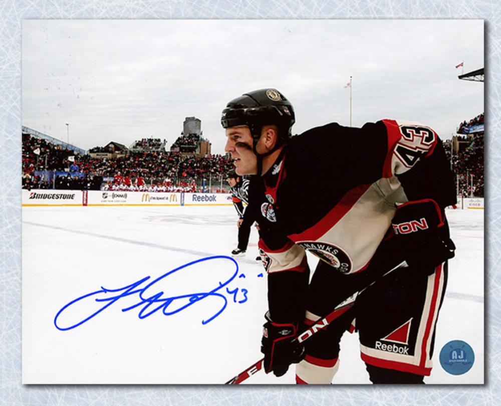 James Wisniewski Chicago Blackhawks Autographed Winter Classic 8x10 Photo