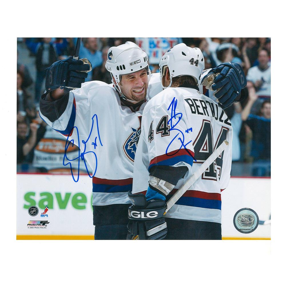 TODD BERTUZZI & ED JOVANOVSKI Signed Vancouver Canucks 8 X 10 Photo - 70286
