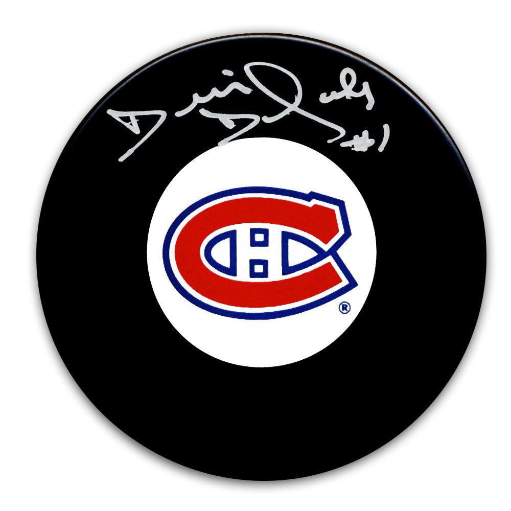 Denis Dejordy Montreal Canadiens Autographed Puck