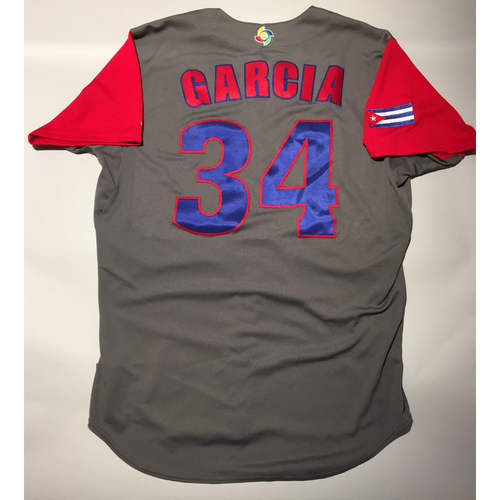 Photo of 2017 WBC: Cuba Game-Used Road Jersey, Garcia #34
